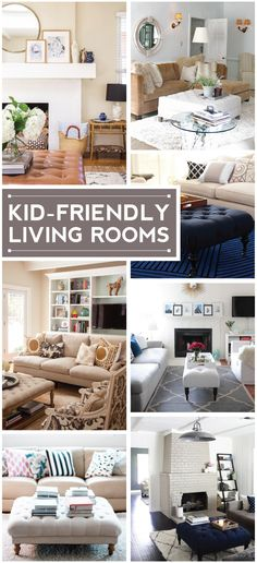 kid-friendly living rooms.