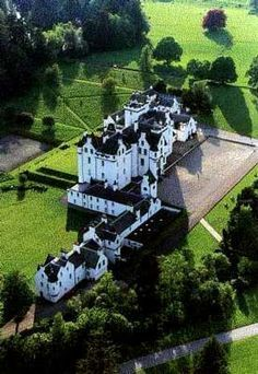 Blair Castle, Scotland. Dating from 1290 is the family seat of the Dukes of…