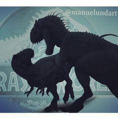 Jurassic World - Indominus Rex vs Tyrannosaurus battle