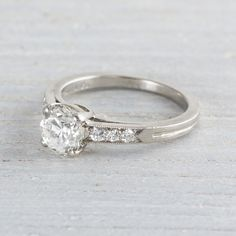 1.05 Carat Vintage Tiffany and Co. Engagement Ring | Erstwhile Jewelry Co.