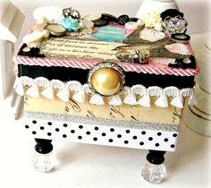 Decorative Box Trinket Keepsake Jewelry Box by BlushingPeach, $45.00