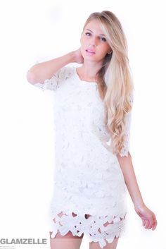 dress: http://www.glamzelle.com/collections/dress/products/white-lace-cutwork-shift-cutout-dress