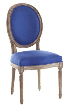 Louis XVI Dining Chair   Royal Blue
