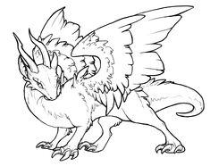 Free Dragon Lineart by ~BasiliskZero on deviantART