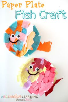 Paper plate fish craft for kids paper plate crafts for kids Crab Crafts, Paper Plate Crafts For Kids, Crafts For Kids To Make, Fun Crafts For Kids, Summer Crafts, Toddler Crafts, Arts And Crafts, Paper Crafts, Diy Paper