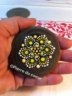 Mandala Fairy Stone hand painted