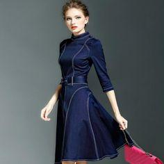 Primavera-Verano-Top-Brand-New-Slim-Fit-font-b-jean-b-font-Vestidos-Mujer-denim-font.jpg (800×800)
