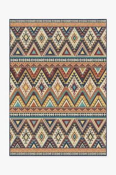 The Southwestern style of our Pueblo Multicolor rug showcases repeated rows of geometric patterns in a fresh earth tone color palette. Geometric Rug, Tribal Rug, Geometric Patterns, Stone Rug, Machine Washable Rugs, Earth Tone Colors, Earth Tones, Classic Rugs, Rugs