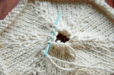how to knit hexagons.