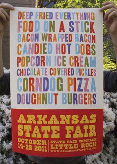 Deep Fried Everything, Arkansas State Fair Poster