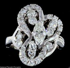 MARQUISE BRILLIANT DIAMOND 14K WHITE GOLD ENGAGEMENT RING