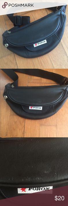 b95ae1ca1403 vintage porox leather fanny waist bag 🔥