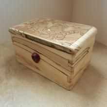 Spalted Beech and Purpleheart Box | Gallery | Ullapool Box Creations