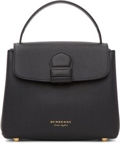 BURBERRY Black Small Camberley Bag. #burberry #bags #shoulder bags #hand bags #canvas #leather #lining #
