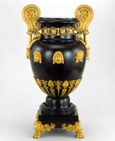 Greek krater-style copper vase patinated to imitate bronze, designed by Thomas Hope, England, 1802-03. Museum no. M.33-1983 Thomas Hope & the Regency style