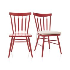 The ever-popular Windsor chair sits up and gets noticed in cherry red.  Beechwood frame brings the design up to date with slender spindle back, angled legs and subtle saddle seat.  Mix with other Willa Chair color options for a fresh take on table seating or pull up a splash of color to the desk or vanity.  Tie on an extra layer of comfort custom fitted to our Willa chair collections.