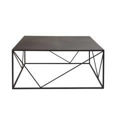 Table basse carrée en métal noir Edwin | Maisons du Monde