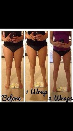 This lady used her body wraps on her thighs, look at the difference