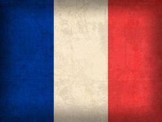 France Flag Distressed Vintage Finish Mixed Media