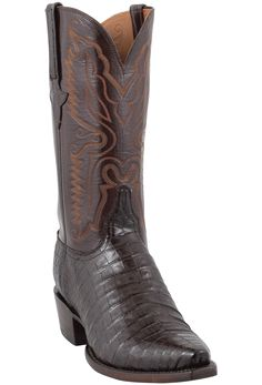 7509f36af1 Lucchese Men s Ultra Caiman Crocodile Boots - Chocolate with Snip Toe