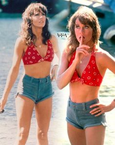 Old Hollywood Glamour, Classic Hollywood, Jane Fonda, Bridget Fonda, Hollywood Actresses, Actors & Actresses, Rachel Welch, Actrices Hollywood, Vintage Swimsuits