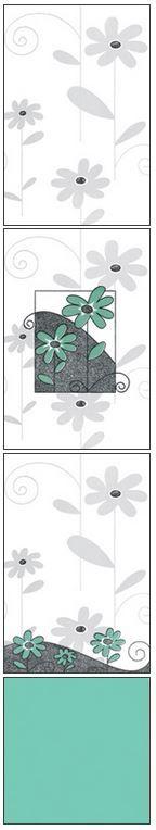 Millennium Tiles 200x300mm (8x12) Luster Concept Design Ceramic Wall Tiles - 223 - 222 - 221 - Aqua Marine