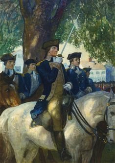 N. C. Wyeth - painted in 1919 - George Washington,  34x24 inches oil on canvas                                                                                                                 BEGIN...