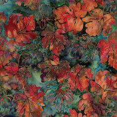 Hoffman batik Oak leaves