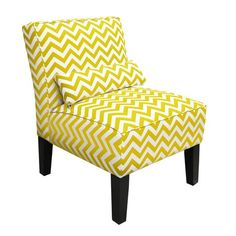 I pinned this Vibrance Chevron Accent Chair from the Design Report event at Joss & Main!