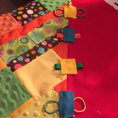 I have such a great time working on this colorful fidget lap quilt. Charm Square Quilt, Tactile Stimulation, Forms Of Dementia, Calming Activities, Fidget Blankets, Fidget Quilt, Quilt Batting, Fabric Textures, Care Packages