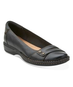 Another great find on #zulily! Black Pegg Abbie Leather Flat #zulilyfinds