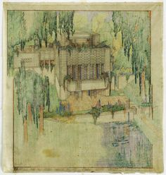 Murder in the Blueprints of Frank Lloyd Wright. A house that is the byproduct of Wright's greatest personal catastrophe: the axe murder of his lover, a woman named Martha, and six other people at the architect's midwestern hideaway