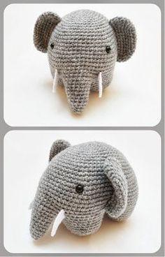 FREE Amigurumi Elephant Crochet Pattern and Tutorial