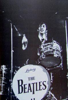 Ringo (with The Beatles) performing in Cincinnati, summer of 1964.