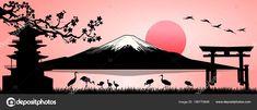 Fuji Mountain, Mountain Sunset, Mont Fuji, Mountain Illustration, Japanese Tattoo Art, Les Themes, Polaroid, Art Plastique, Images