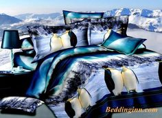 #penguin #beddingset #3dbedding Buy link-->http://goo.gl/fFQZjd Discover more-->http://goo.gl/MDjeZ3 Live a better life,start with @beddinginn http://www.beddinginn.com/product/Antarctic-Penguin-Snow-Scene-3D-Print-4-piece-Bedding-Sets-10528695.html