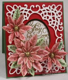 Heartfelt Creations | Elegant Poinsettia Petal Card