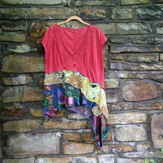 Heirloom Summer Blouse  top / tunic XL  PLUS SIZE by miabaggali