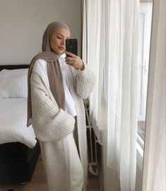 How To Wear Chunky Knitwear With Hijab Fashion - image@sauf.etc - Get Inspiration On Chunky Cardigan With Hijab Style, Long Open Cardigans For Spring, Long Open Cardigans Summer, Long Open Cardigans Work Outfits, Hijab Fashion With Cosy Knitwear, Black Open Cardigans , White Open Long Cardigans And Much More. #hijab #hijabfashion #hijaboutfit #longcardigan #modestoutfit #chunkyknit