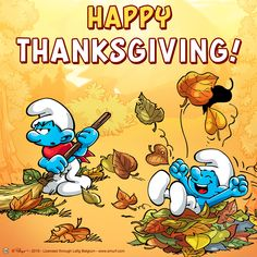 [Giveaway] Join our Thanksgiving Giveaway Winners announced - Smurfs Forums Canadian Thanksgiving, Thanksgiving Day Parade, Smurf Village, Autumn Scenes, Blue Magic, Giveaway, Turkey, Join, The Smurfs