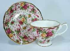 "Royal Albert ""Old Country Roses"" Ruby Celebration Pink Chintz Duo"