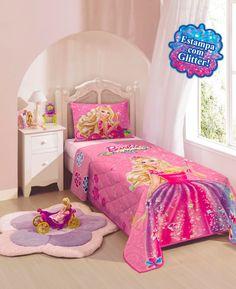49aa218e3b Colcha Matelassê Infantil Personagens Lepper - Barbie e o Portal Secre