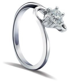 Platinum and diamond engagement #ring by Orra Jewellery