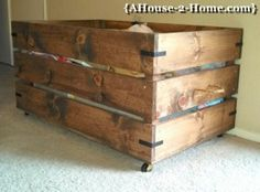 DIY: Wood Box - would be so neat to store extra blankets & quilts at the foot of the bed!