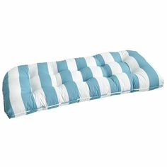 Cabana Stripe Settee Cushion - Turquoise from Pier 1 imports $70.00