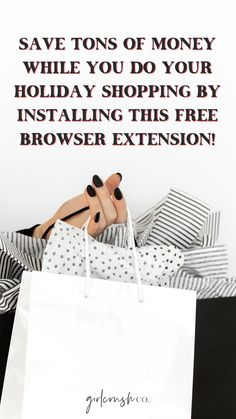 Do not start your holiday shopping without installing Honey, the free browser extension that will save you money!
