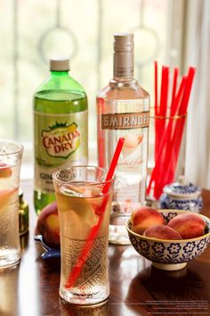 Ginger Vixen drink recipe is the perfect addition to your summer BBQ. 1.5 oz. Smirnoff Sorbet ® Light White Peach and 4 oz. Canada Dry Diet Ginger Ale. Pour ingredients over ice. Stir & enjoy.