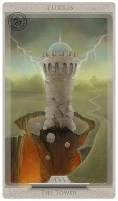 Tarot card: The Tower by Sabina Nore