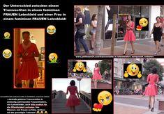 Latexkleider dürfen nur wir Mädchen tragen. Transvestitenschweine in Latexkleidern verbieten!