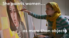 This Woman Beautifully Unveils What It's Like To Be Female In Iran is part of Abstract painting Videos - The Iranian government is censoring female artists in order to portray women as fully veiled objects Watercolor Video, Watercolor Art, Iranian Art, Iranian Women, Painting Videos, What Is Like, Art Techniques, Art Studios, Amazing Art